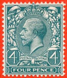 Sg. N23 Colour Trial .4d Bluish Grey Green. A Super Unmounted Mint Example.