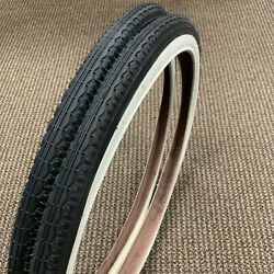 Bicycle Tires 24 X 1.75 Fit Roadmaster Sears Murray Middleweight White Wall New