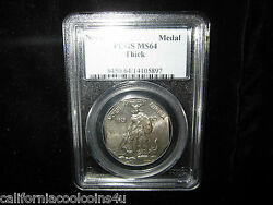 8 - Sided 1925 Norse American Medal Pcgs Ms 64 Thick Silver Beautiful