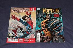 Amazing Spider Man And Wolverine Bti 1 All New Marvel Now 2014 1st Print Lot 2
