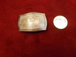 2 Nice Old Vtg Art Deco Silver Plated Bronze E Initial Hickok Belt Buckle