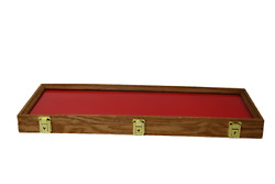 Oak Wood Display Case 9 X 25 X 2 For Arrowheads Knifes Collectibles And More