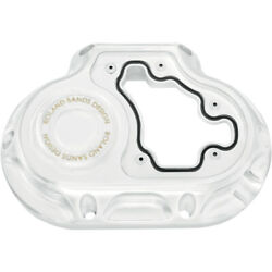 Roland Sands Clarity Cable 6-speed Transmission Side Cover Harley 07-16 Chrome