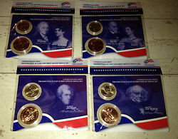 All 4 2008 Presidential 1 Coin First Spouse Lady Medal Sets John Quincy Adams