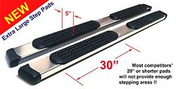 01-07 Toyota Sequoia 5 Chrome Pads Running Side Step Boards Nerf Bars