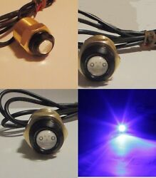 Blue Led Boat Plug Light Garboard Brass Drain 1/2 Npt Marine Underwater Fish