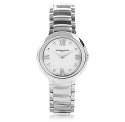 Baume And Mercier Promesse Mother Of Pearl Stainless Steel Ladies Watch Moa10158