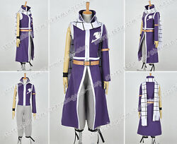Fairy Tail Cosplay Natsu Salamander Dragneel Costume Uniform With Scarf Hot Sale