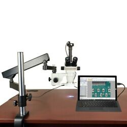 6.7x-45x Stereo Microscope+articulat Arm Stand+56 Led Ring Light+5.0m Usb Camera