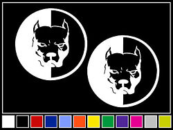 2 PIT BULL Decals*14 COLORS* Stickers Dog Staffordshire Terrier Bully Pitbull