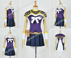Fairy Tail The Grand Magic Games Cosplay Lucy Costume Purple Combat Uniform Cool