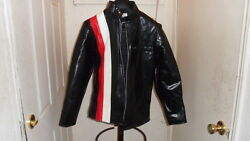 Nos Young Sports Vintage Motorcycle Cafer Rac Menand039s Size Small Black Jacket