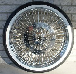 Dna Chrome Mammoth 52 Fat Daddy Spoke 21 16 Wheels Tires Set Harley Touring 09