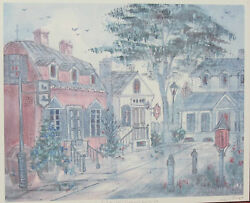Lucretia Restrepo Old Williamsburg, Va Signed Numbered Framed Watercolor Print