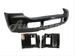 For 2005-2007 Super Duty F250 F350 Front Steel Bumper Blk Up Pad Plate 4p