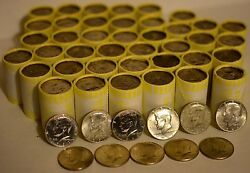 Possible Silver Unsearched 10 Bank Roll Of Half Dollars Jfk/franklin Silver