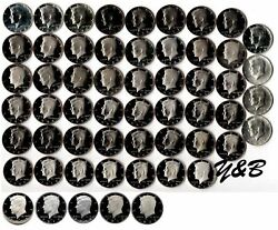1964 - 2020 S Proof Kennedy Half Dollar Complete Set Include Silver Proof Sms