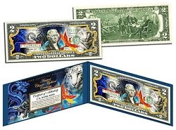 Ancient Chinese Mythical Creatures-colorized 2 Bill-us Legal Tender-lucky Money