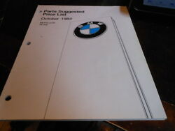 Vintage 1982 Bmw Motorcycle Parts Price List Usa 60 Pages