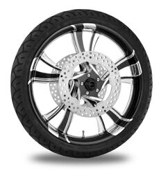 Xtreme Machine Cruise Xquisite 21 Front Wheel Tire Rotor Package Harley 14- Abs