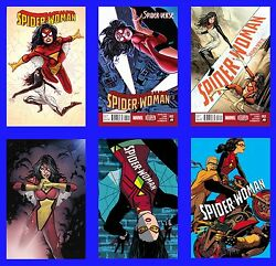 Spider Woman 1 2 3 4 5 6 Set New Costume Marvel Now Verse 2014 Man Lot Silk Ps