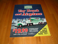 Hess 2002 Hess Toy Truck And Airplane Two Sided Vertical Vinyl Poster