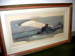 Montaut ORIGINAL PAINTING Later Reproduced as Published Lithograph Edition