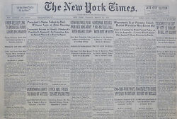 3-1940 Wwii March 26 Mauretannia Is At Panama Canal Roosevelt Welles Uk War Move