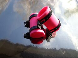 Bright Pink Yamaha Banshee Exhaust Pipe Clamps All Years Fmf,dg, Factory Atv
