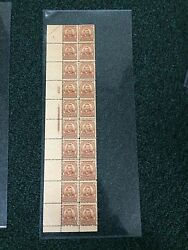 303 4cent Grant Plate Strip Of 20. Mnh. Great Color