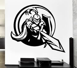 Wall Decal Knight Sword Shield Armor Medieval Weapons Vinyl Decal Ed302