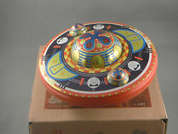tin mystery ufo wind up tin toy