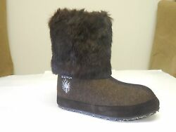 Zdar Nikita Low Coffee Rabbit Fur Boots Size 6 7 8 9 10 Available- Brand New