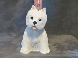 WEST HIGHLAND WHITE TERRIER PLASTER DOG STATUE HAND CAST & PAINTED BY T.C.SCHOCH