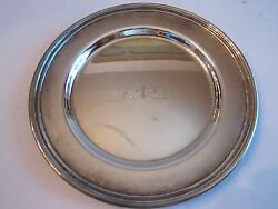 Vtg Alpha Phi Omega Silver Plated Plate - Concord Int'l Silver Co - 6 L Bba-2