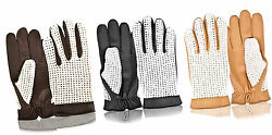 Real Lamb Nappa Leather Full Finger Classic Driving Gloves Without Lining Dress