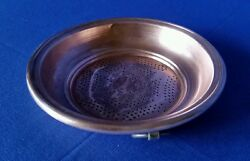 Antq Primitive Copper Kitchen Decor Haning Sieve Strainer Rolled Edge Punched