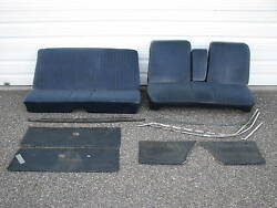 1967plymouth Barracuda Blue Cloth Bench Front Rear1965seat1966door1968panels