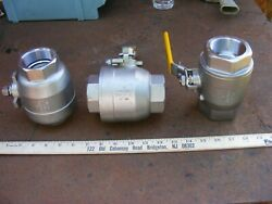 Lot Of 3 New Parker 2 Stainless Steel Ball Valve 1500 Wog Test F S Cf8m Nice