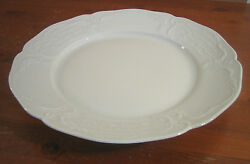 Sanssouci Rosenthal Ivory 1 Round Platter Chop Plate No Trim Embossed Beaded Exc