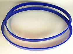 Set Of 2 Ultra Thick 1/8 Belts Replaces Craftsman Part 41815 Polyurethane Tires
