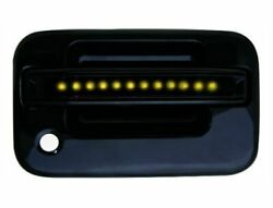 Ipcw Fla04bf Pair Of Black Front Door Handles W/amber Led For Ford F150/f250