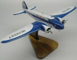 Boeing B-247 United Airlines Plane Wood Model Large Fs