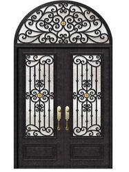 Hand-Crafted 12 Gauge Wrought Iron Doors by Monarch Custom Doors 72