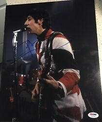 Pete Townshend Signed Autograph The Who British Flag 11x14 Photo Psa/dna Y63359