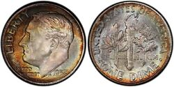 1952-s Pcgs Ms68 High Grade Toned Roosevelt Dime 10c Excellent Example Top Pop