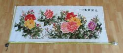 100 Hand Crafted Sewn Floral Mural