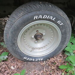 Ford Dodge Plymouth 14 Racing Aluminun Wheels With Tires W/ Nos Nuts