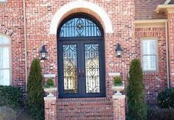 Hand-Crafted 12 Gauge Wrought Iron Doors by Monarch Custom Doors 76