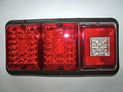 Triple Led'sbargman 84 85 Trailer Rv Tail Light Red And Red,bu Black Frame All Led